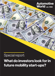 Special report: What do investors look for in future mobility start-ups?