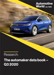 The automaker data book – Q3 2020