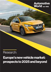Europe's new vehicle market: prospects to 2025 and beyond